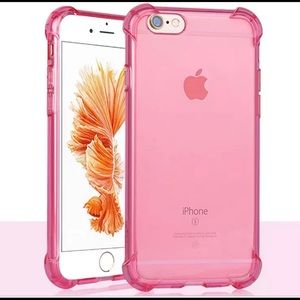 Accessories - iPhone 7 &8 Pink Transparent Soft Shockproof Case
